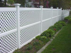 Vinyl Lattice Privacy Fence