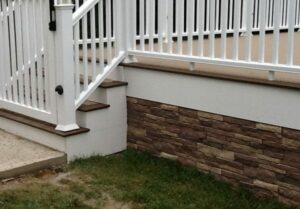 Faux Stone Skirting